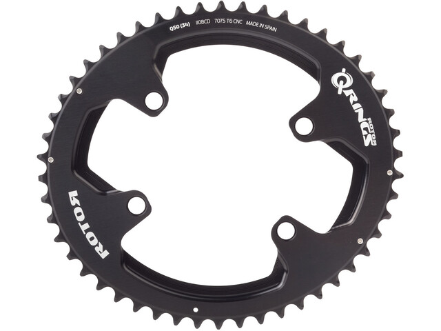 Rotor Aldhu Chainring 110x4 outside oval black/matt/glossy